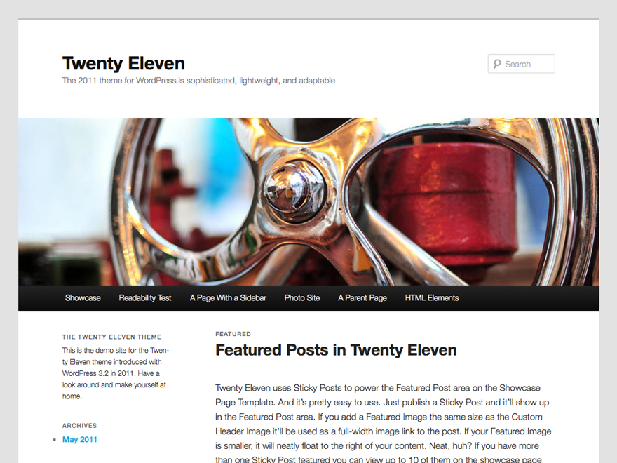 Twenty Eleven theme screenshot