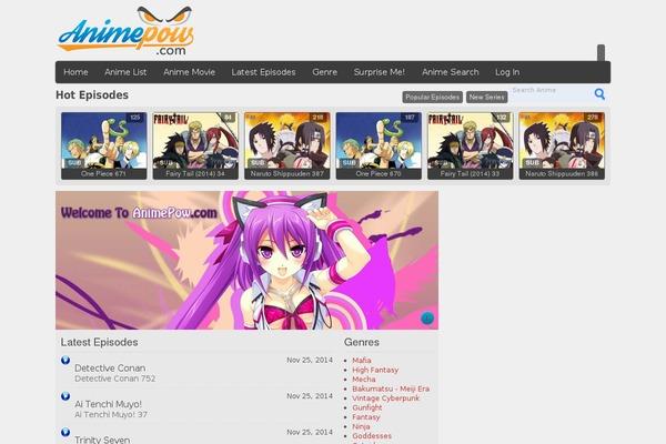 Anime-pow WordPress theme, websites examples using Anime-pow theme ...