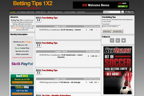 Sure betting tips 1x2