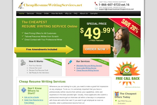 Cheap resume writing