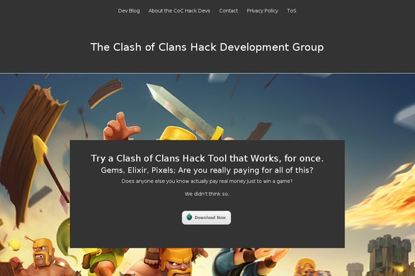 Clash-of-clans-hack-theme WordPress theme, websites examples