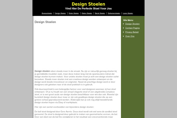 Design Stoelen Outlet.C5 Wordpress Theme Websites Examples Using C5 Theme Themetix
