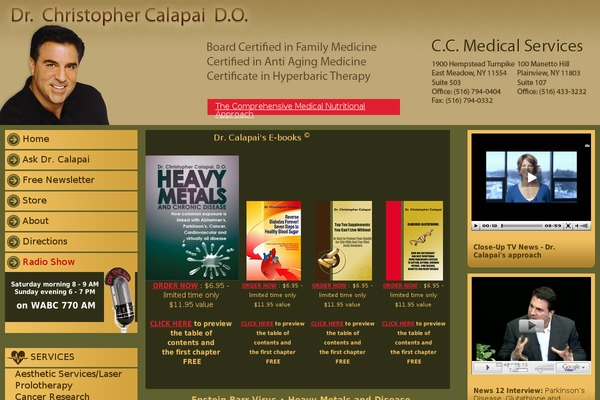 Dr Christopher Calapai  Latest Comments by Dr Calapai