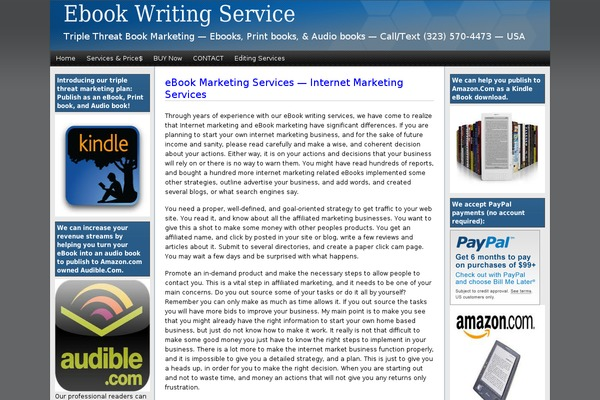 ebook writing services