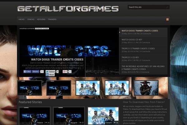 Arras-classical-gamer WordPress theme, websites examples
