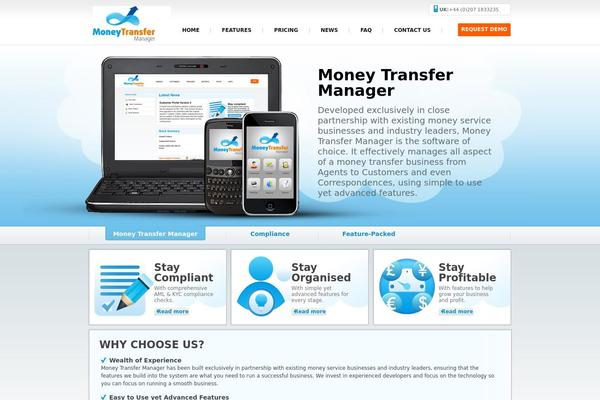 Moneytransfer WordPress Theme Websites
