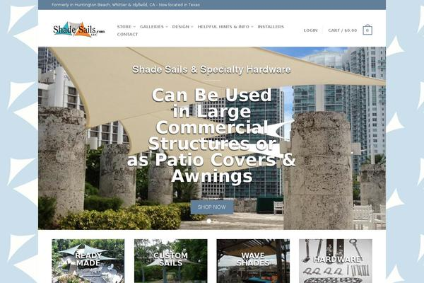 Wordpress theme universe themes and websites built with for Shadesails com