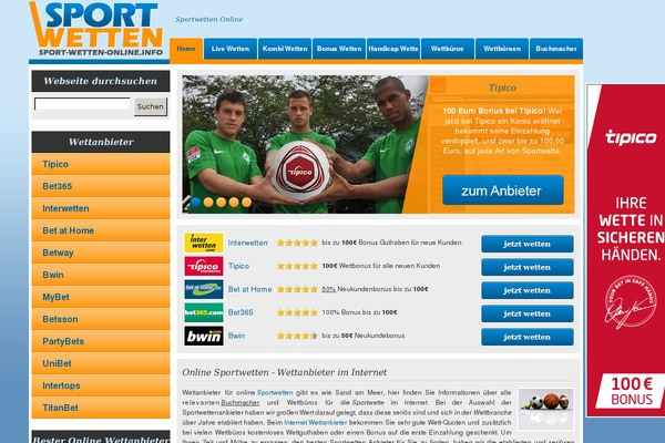 online wetten sport wetten