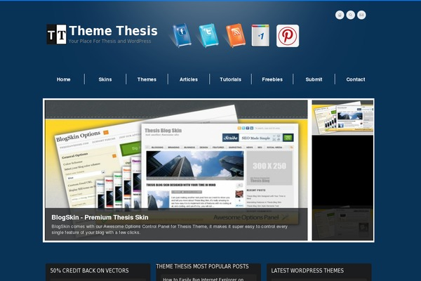 Best Thesis Skins for WordPress - Thesis Theme
