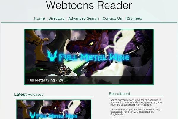 Webtoon-reader WordPress theme, websites examples using